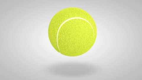 3D tennis ball bounce 01 - stock footage