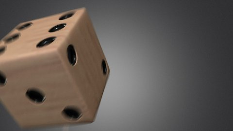 3D dice roll 04 - stock footage