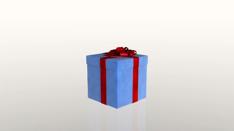 Gift box jiggling to release a virtual product, loop, against white, Alpha Matte - stock footage