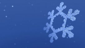 Sparkling Snow Crystal and Snow Flurries - motion graphic