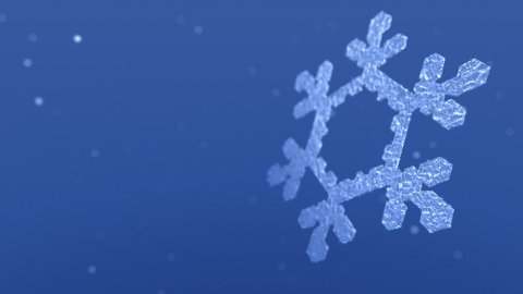 Sparkling Snow Crystal and Snow Flurries - stock footage