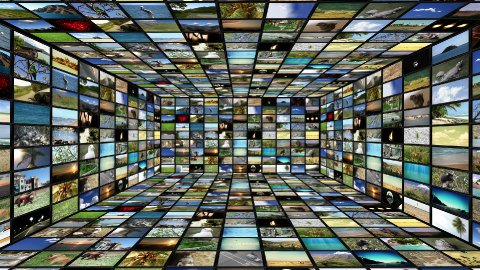 Multimedia TV Wall 04 - stock footage
