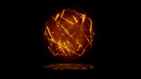 Golden Lines Sphere - stock footage