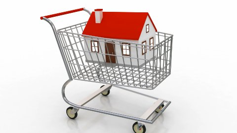 Buying Home Shoppingcart - stock footage
