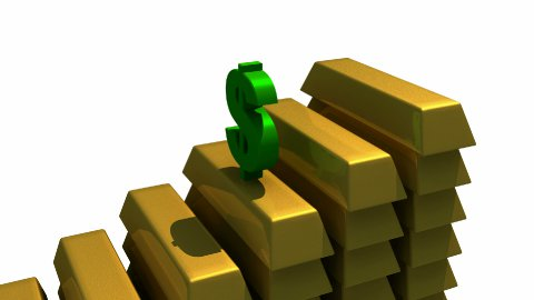 Goldbar and Dollar - stock footage