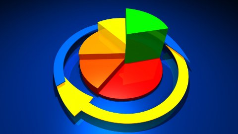 business graphics and Forex indicators - stock footage