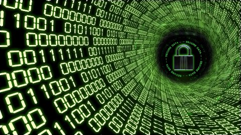 Cyberspace Secure Data Transfer - stock footage