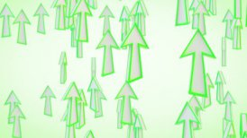green arrows fly upward loop - motion graphic