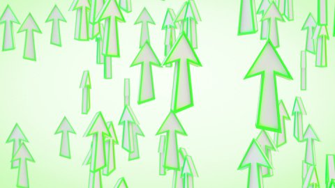 green arrows fly upward loop - stock footage