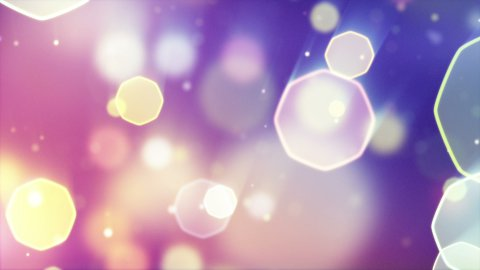 delicate octagon bokeh lights seamless loop background - stock footage