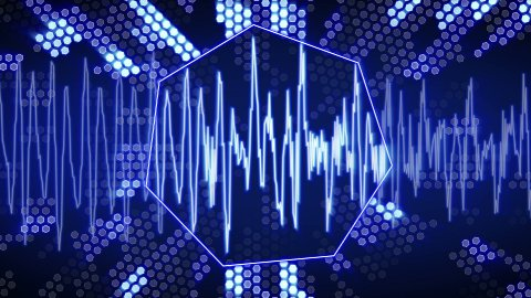 waveform animation technology blue back loopable - stock footage