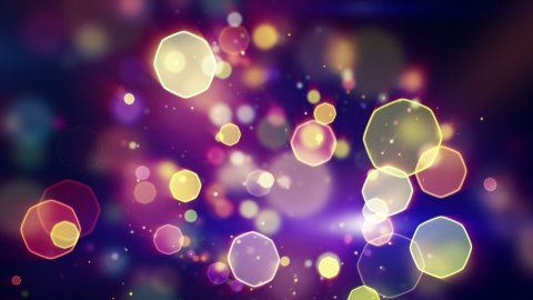 octagon bokeh lights seamless loop background - stock footage
