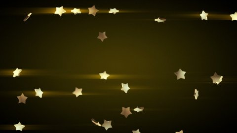 falling gold stars loop luma matte - stock footage