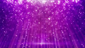 magenta loopable background flying particles in light beams - motion graphic