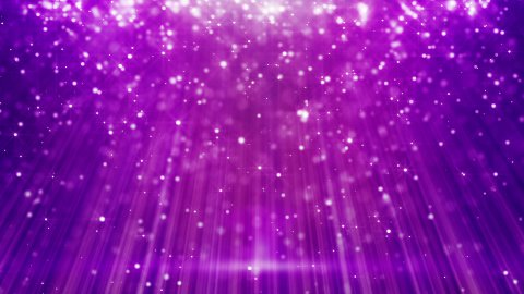 magenta loopable background flying particles in light beams - stock footage
