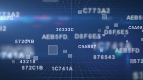 hexadecimal data loopable background - stock footage