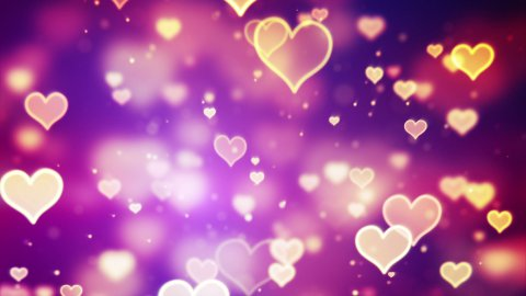 shining hearts bokeh loopable romantic background - stock footage
