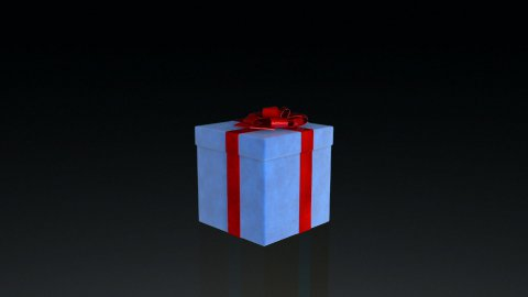 Gift box jiggling to release a virtual product, loop, against black - stock footage