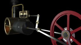 Steam Engine Pan Animation hd - motion graphic