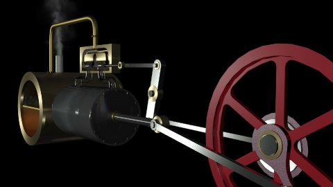 Steam Engine Pan Animation hd - stock footage