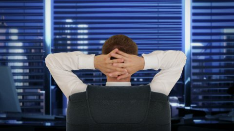 Businessman In Office, relaxing - stock footage