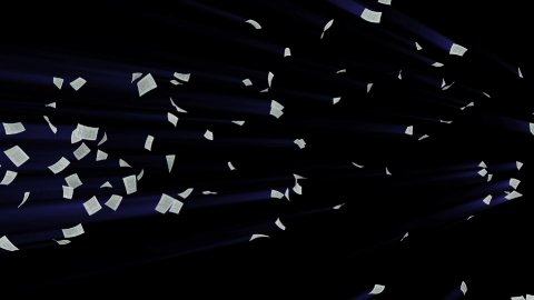 Documents Flying Shine, Alpha Channel - stock footage