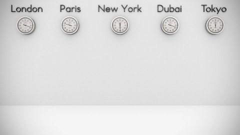 World Clocks Background with space for text - stock footage