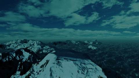 Above Snowy Mountain, Time Lapse Clouds - stock footage