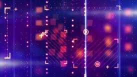 shiny blue orange abstract tech background loopable - motion graphic