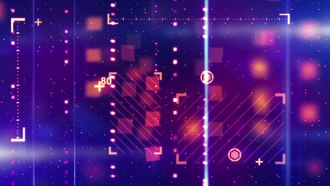 shiny blue orange abstract tech background loopable - stock footage