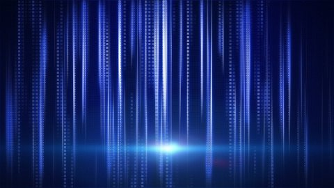 blue stripes and squares tech background loop - stock footage