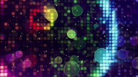 colorful sparkling disco wall and bokeh lights loopable