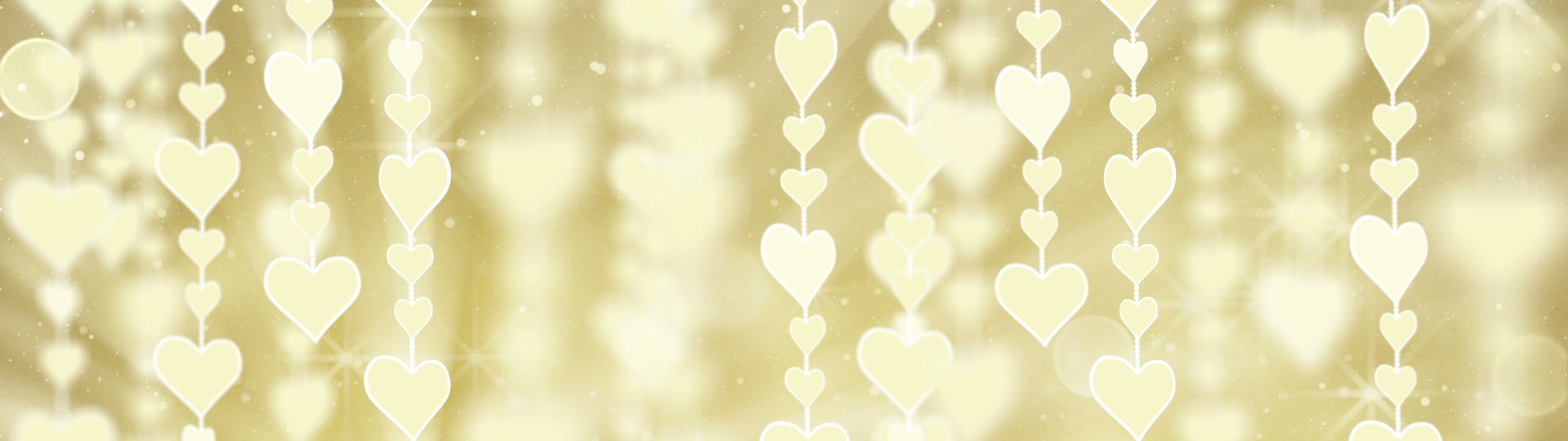 Dangling gold hearts loop | dangling gold hearts. computer generated seamless loop romantic motion background - ID:14679
