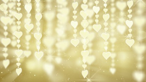 dangling gold hearts loop - stock footage