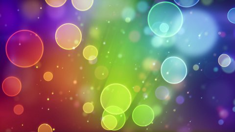 multicolor circle bokeh lights seamless loop background - stock footage