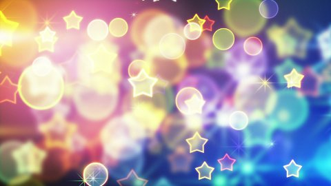 shiny festive background with bokeh and stars loop - stock footage