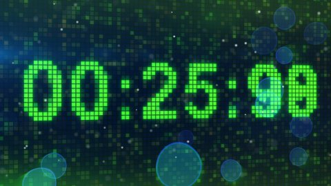 countdown digital timer animation - stock footage