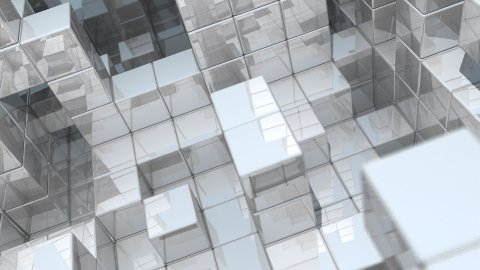 Reflective Wall Fortress - Horizontal - stock footage