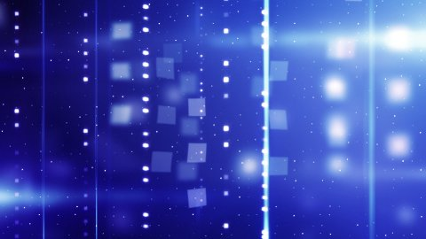 shiny blue technology background loopable - stock footage