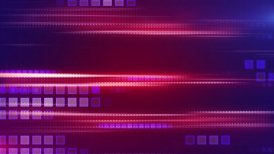 megenta stripes and squares tech background loop - motion graphic