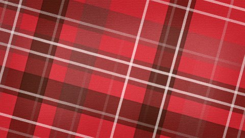 red scottish checked fabric loopable background - stock footage