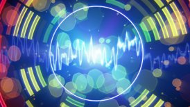 audio waveform equalizer pulsating loopable background - motion graphic