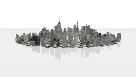 City time lapse growth - stock footage
