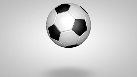 3D football bounce 02 - stock footage