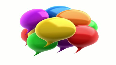 Colorful speech bubbles. - stock footage