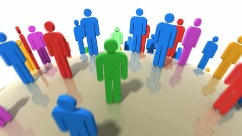 World of colorful people. - stock footage