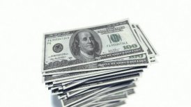 Stack of dollar bills. - editable clip, motion graphic, stock footage