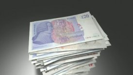 Stack of British Pounds. - motion graphic