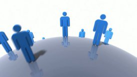 Human resources and diversity concept. Loopable. - motion graphic