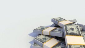 Looping Stack of Dollar Bills. - motion graphic